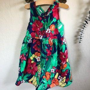 Vintage Kokomo kids floral fruit dress size 2t